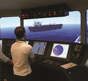 full mission Ship bridge simulator, simulator studies, simulator training, FORCE Technology,