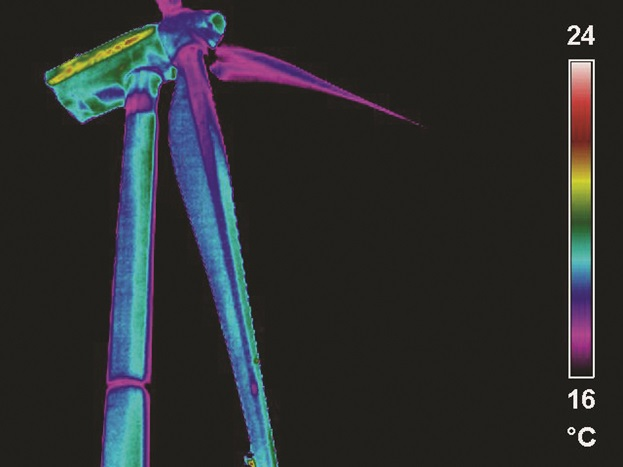Infrared thermography is a powerful technique for subsurface examination of wind turbine rotor blades.